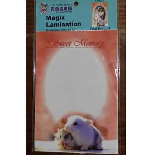 Photo Image Lamination Frame I Sticker I Water & Colour Fade Proof I Unique & Cute I Baby I Gift