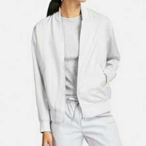 Give me a price | Uniqlo White Bomber Jacket