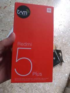 Xiaomi redmi 5 plus black 4/64GB garansi tam segel