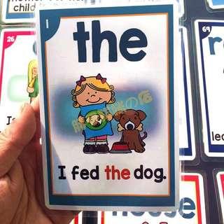 🌈 🌈SIGHT WORDS🌈FLASH CARDS(100PCS)