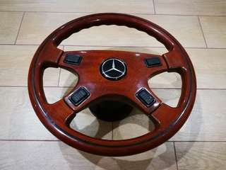 Mercedes Benz wooden steering wheel