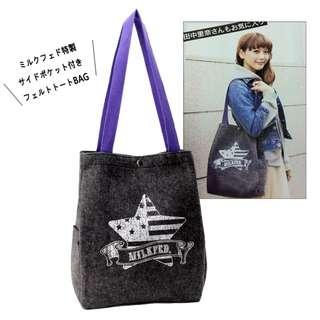 日本雜誌 mini 附贈 MILKFED. 特製氈毛托特包 毛氈單肩包 手提包 手提袋 購物袋 MILKFED