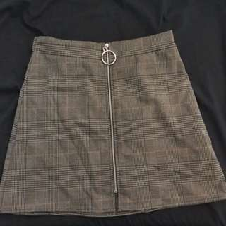 M Boutique plaid skirt - size small