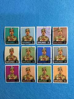 Brunei 1957 Definitive Issue  12V Used Short Set