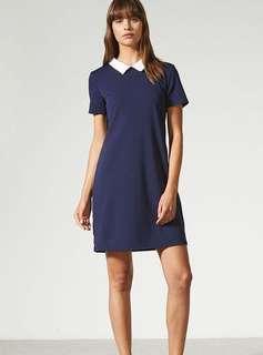 New temt navy collar dress
