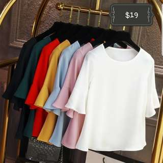 Plus size chiffon blouse