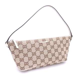 GUCCI Bag GG Canvas Canvas x Leather Shoulder Bag Accessory Pouch Women's  RARE (SHIP FROM JAPAN)