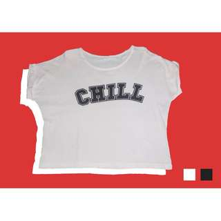 Chill White Crop Top