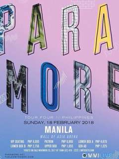 PARAMORE 1 UPPERBOX TICKET - August 23