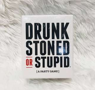 Drunk stoned or stupid (party game)