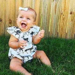 ✔️STOCK - WILD DEER ANIMAL NEWBORN BABY TODDLER GIRL ROMPER KIDS CHILDREN CLOTHING