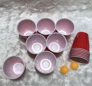 Beer pong starter pack (14 red cups and 2 balls)