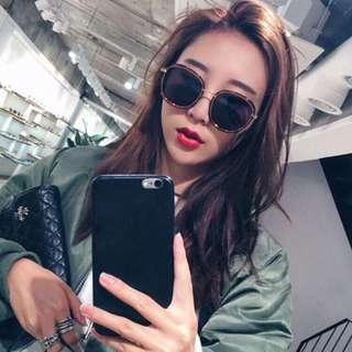 🚚 韓版潮流方框金屬邊墨鏡