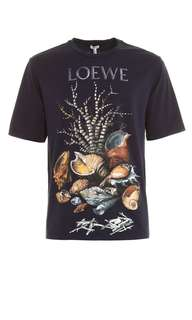 🆕 Authentic LOEWE Shell Print Tee, Latest Arrival