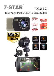 "4"" inch Display Full-HD 1080P Dual Lens (Front & Back) Road Angel Car Camera Dash Cam DVR Recorder - Wide Angle+Night Vision+Loop Recording (7-STAR*) Car Cam"