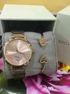 MK watch with bracelet pair