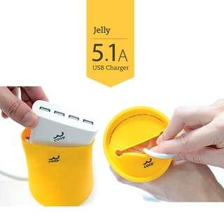 Multi port USB Charger in stylish design 多位USB充電器