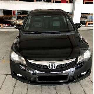 Honda Civic 1.8A For Rent (Grab Friendly)