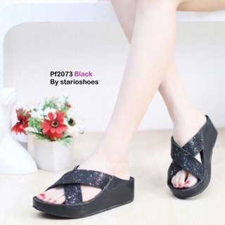 Glitter platform heels