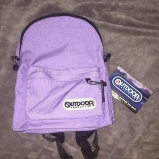 Outdoor 全新小背包 粉紫色