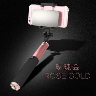Selfie Stick with Mirror and bluetooth in Black