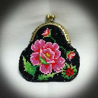 Peranakan Beaded Coins Purse