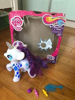 Large My Little Pony Toy Rarity lights cutie mark magic
