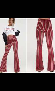 Red striped flares
