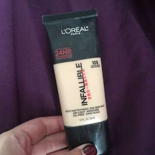 Loreal Pro Matte Foundation - 105 Natural Beige