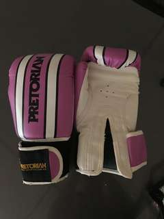 Pectorian pink boxing gloves for women