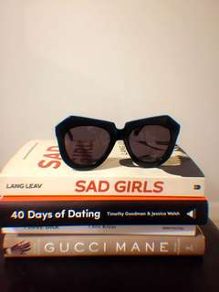 Karen Walker Number One Sunglasses (Black)