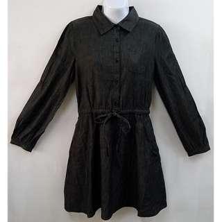 H2O收腰綁帶修身長袖洋裝全新含吊牌原價2980元女性M號年輕世代青春精緻時髦的時尚專櫃品牌穿搭達人必備單品