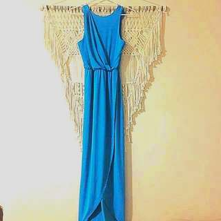 Shieke size 10 blue long dress