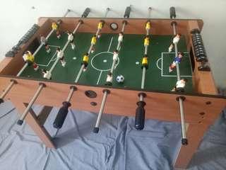 Wooden soccer board or fossball board