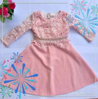 Dress lace for girl 1-6years