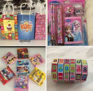 Goody bag, goodie bag gift, goodies bag packages and door gift for kids party 🎉