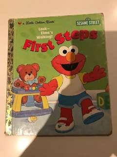 Look Elmo's Walking First Steps - Little Golden Book