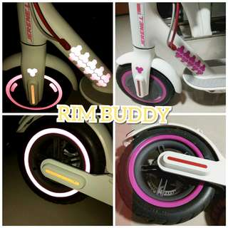 Xiaomi Mijia Pink Reflective Rims + Polygon Set