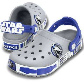 Crocs Kids Crocband Star Wars R2D2 Light Grey-Cerulean Blue C4-5