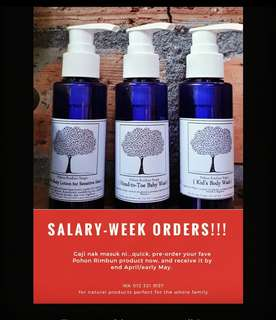 Salary-week Pre-order of Liquid Soaps