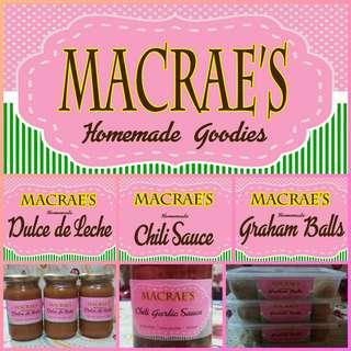 Homemade Dulce de Leche/Chili Sauce/Graham Balls
