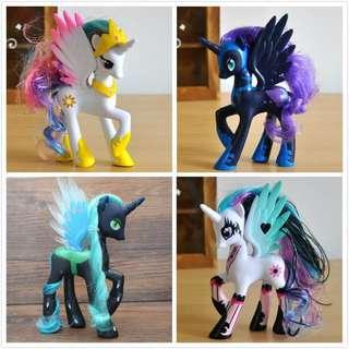 My little pony Alpple jack , rainbow dash , nightmare moon