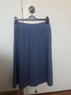 (New)Laura Ashley linen A-line blue skirt (Japan size 13)