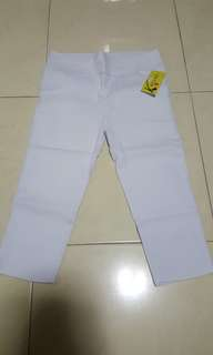 BNWT 3/4 White Pants (XL)