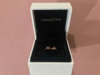 Pandora Two Hearts Ring Size 6
