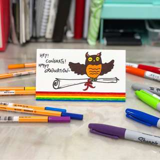 Happy Graduation Owl Card