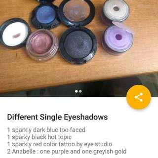 Individual Brand Name Eyeshadows