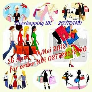 Liveshopping UK + Scotland start 26 april - 4 Mei