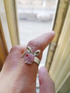 Cute Pink Bunny Ring!
