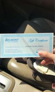 Belmont hotel gift certificate